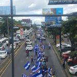 """Managua se convierte en """"cadena humana"""" durante plantón cívico"""