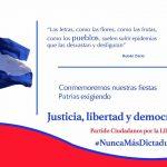 Los Ciudadanos por la Libertad reafirmamos nuestro compromiso con la Patria