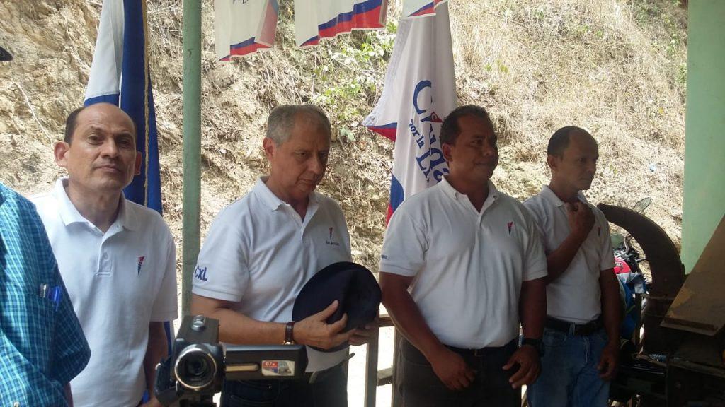 Directivos nacionales de CxL de izquierda a derecha Rodolfo Quintana, Adán Bermúdez, Darick Ramirez y Rodolfo Quintana